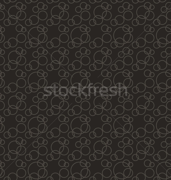 Seamless Pattern Stylish Texture with Interlacing Rings Stock photo © smeagorl
