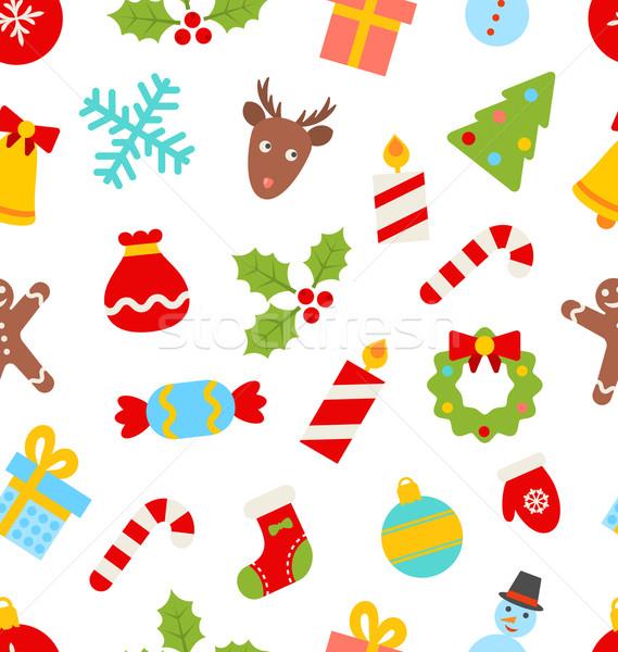 Natale tradizionale simboli illustrazione vacanze Foto d'archivio © smeagorl