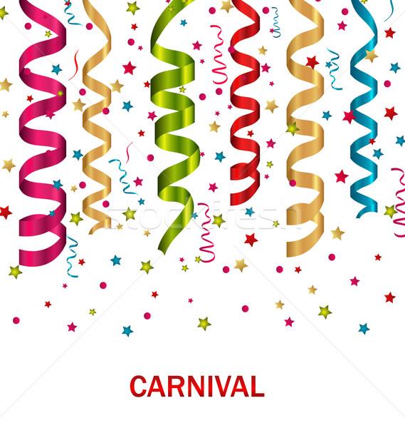 Carnaval conjunto colorido papel ilustração aniversário Foto stock © smeagorl