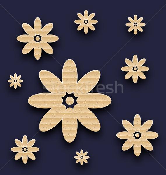 抽象的な 紙 花 カートン テクスチャ 実例 ストックフォト © smeagorl