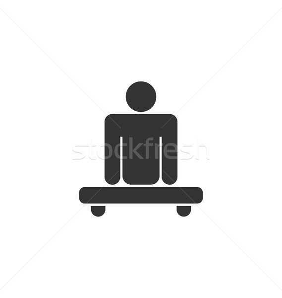 Pictogram of Amputee in Wheelchair Stock photo © smeagorl