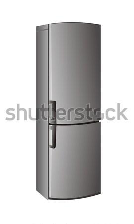 Realistic refrigerator Stock photo © smeagorl