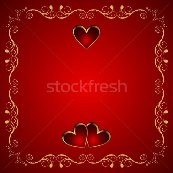 San valentino biglietto d'auguri cuore illustrazione design bellezza Foto d'archivio © smeagorl