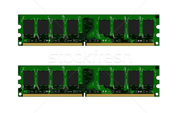 Two green DDR modules Stock photo © smeagorl