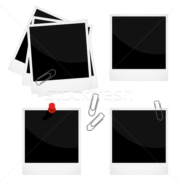 Realistic illustration of set a photo frame Stock photo © smeagorl