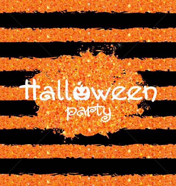 Shine Orange Wallpaper for Happy Halloween Party Stock photo © smeagorl