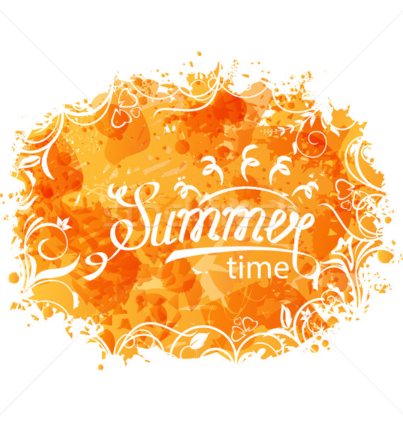 Summer Background of Holidays Design and Typography Poster Templates Stock photo © smeagorl