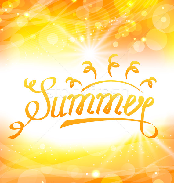 Summer Abstract Background with Text Lettering, Sun and Lens Flare Stock photo © smeagorl