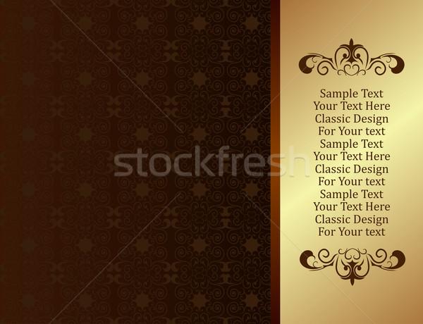 Luxe ontwerp vector abstract blad frame Stockfoto © smeagorl