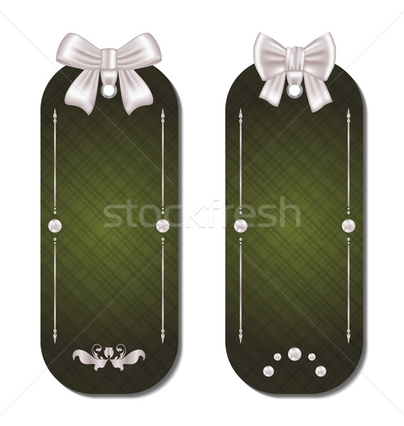 Set of gift cards with bows Stock photo © smeagorl