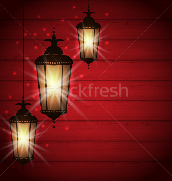 Arabic lamps for holy month of muslim community Stock photo © smeagorl