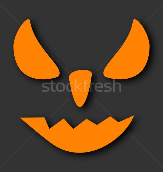 Ijesztő arc halloween tök fekete illusztráció buli Stock fotó © smeagorl