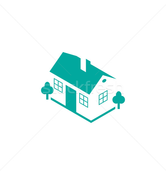 Abstract house real estate isolated on white background, logo de Stock photo © smeagorl