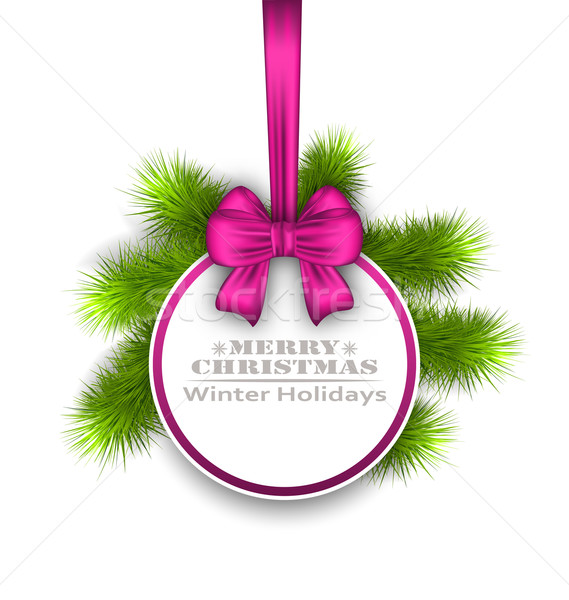 Celebration Card with Bow Ribbon, Best Wishes Stock photo © smeagorl