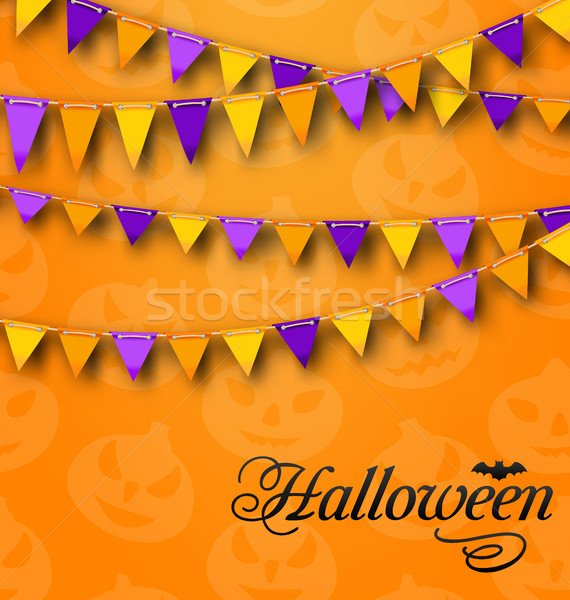 Decoration with Colorful Bunting Pennants for Halloween Party Stock photo © smeagorl