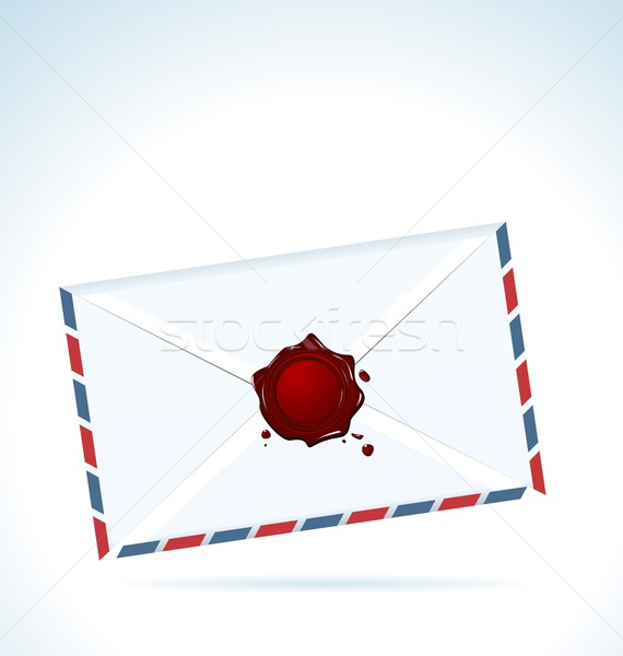 Illustration of the closed letter fastened by red sealing wax Stock photo © smeagorl