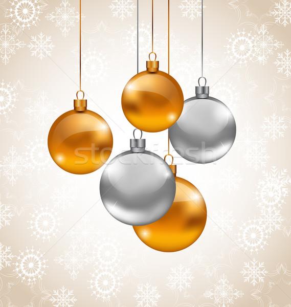 ünnep háttér karácsony vektor terv üveg Stock fotó © smeagorl