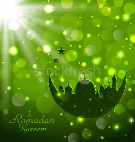 Islamic glow card for Ramadan Kareem Stock photo © smeagorl