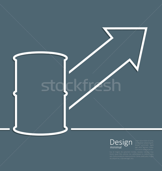 Illustration arrow indicating trend grow cost oil, barrel roll,  Stock photo © smeagorl
