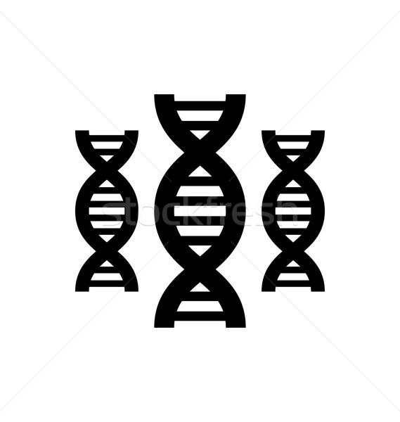 Piktogram DNS illusztráció szimbólum izolált fehér Stock fotó © smeagorl