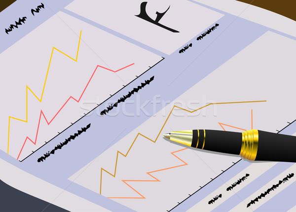 新聞 お金 作業 ペン ビジネスマン ストックフォト © smeagorl
