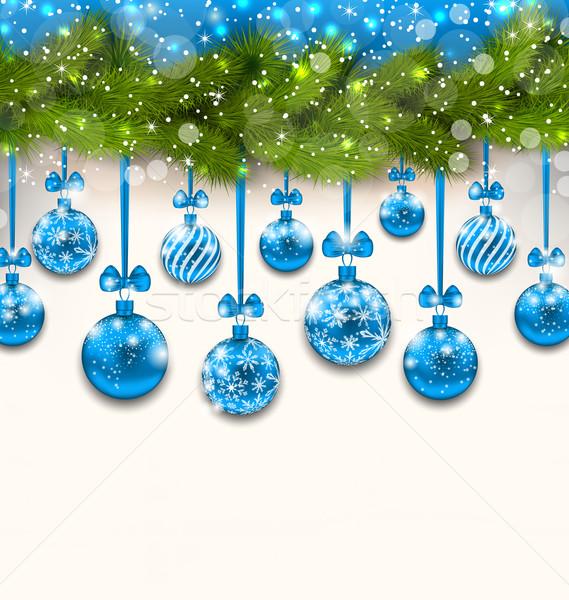 Luz papel de parede ilustração azul Foto stock © smeagorl