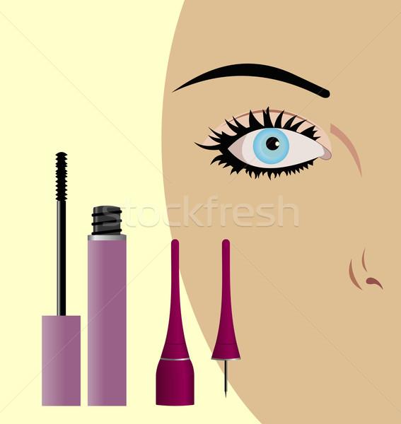 クローズアップ 女性 眼 マスカラ 女性 顔 ストックフォト © smeagorl