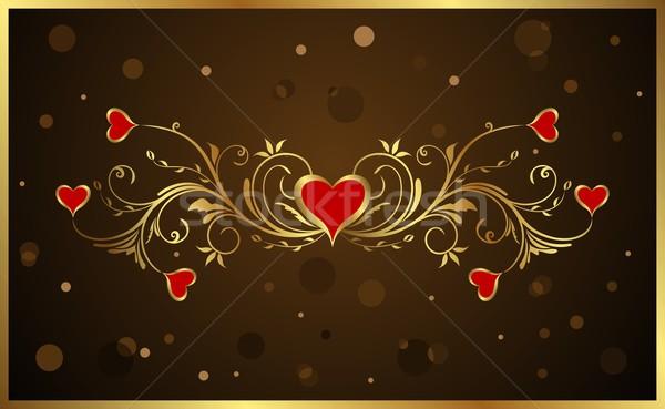 ストックフォト: フローラル · バレンタインデー · 実例 · 光 · 芸術 · 赤