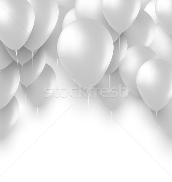 Holiday Background with White Balloons Stock photo © smeagorl