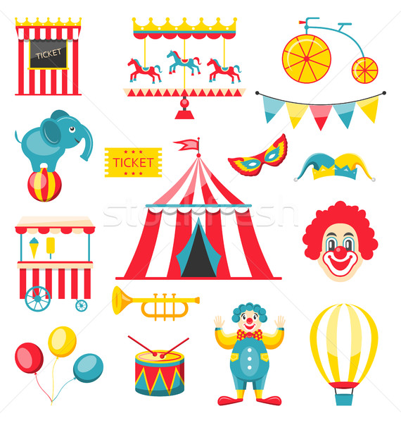 Collection Colorful Elements for Circus and Carnival Stock photo © smeagorl
