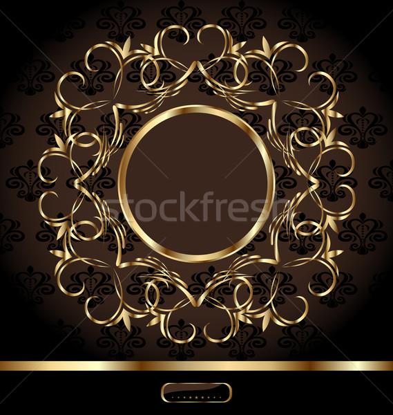 Royal background with golden ornate frame Stock photo © smeagorl
