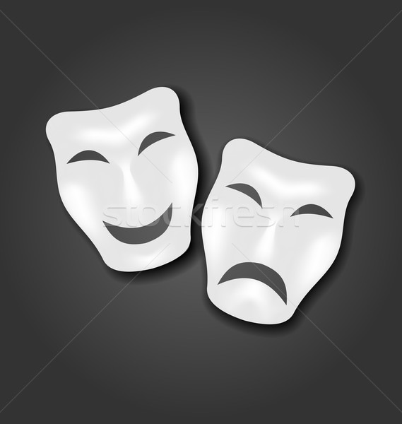 Comedy and tragedy masks for Carnival or theatre Stock photo © smeagorl