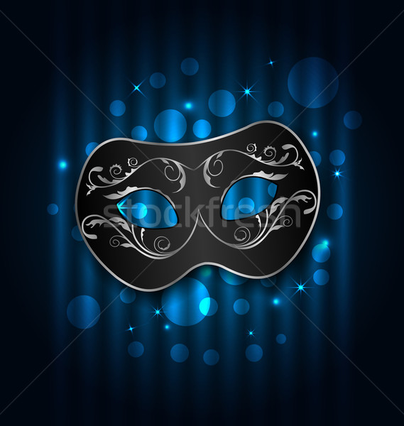Carnival or theater mask on blue shimmering  background Stock photo © smeagorl