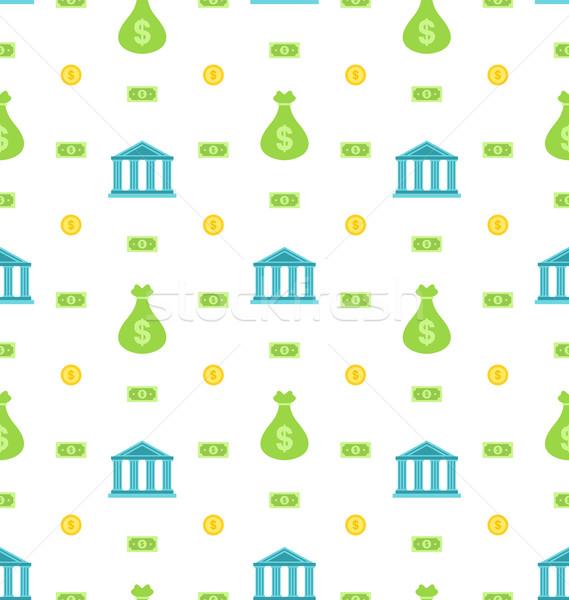 Banco institución notas negocios ilustración Foto stock © smeagorl