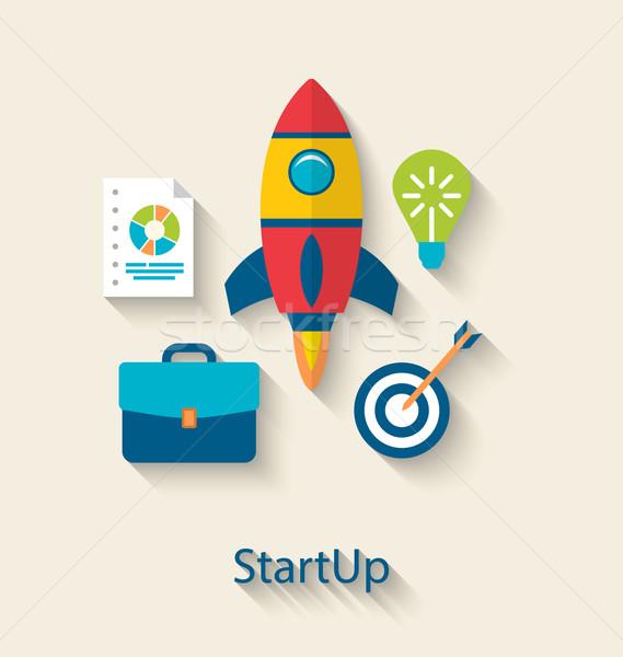 új üzlet projekt startup fejlesztés illusztráció Stock fotó © smeagorl