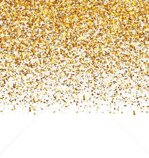 Gouden explosie confetti illustratie korrelig textuur Stockfoto © smeagorl