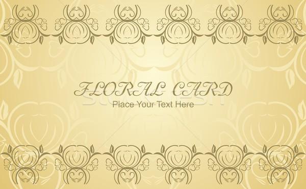 Foto stock: Floral · cartão · vetor · flor · amor · abstrato