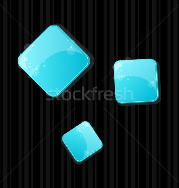 Stock fotó: Szett · színes · háló · gombok · illusztráció · üveg
