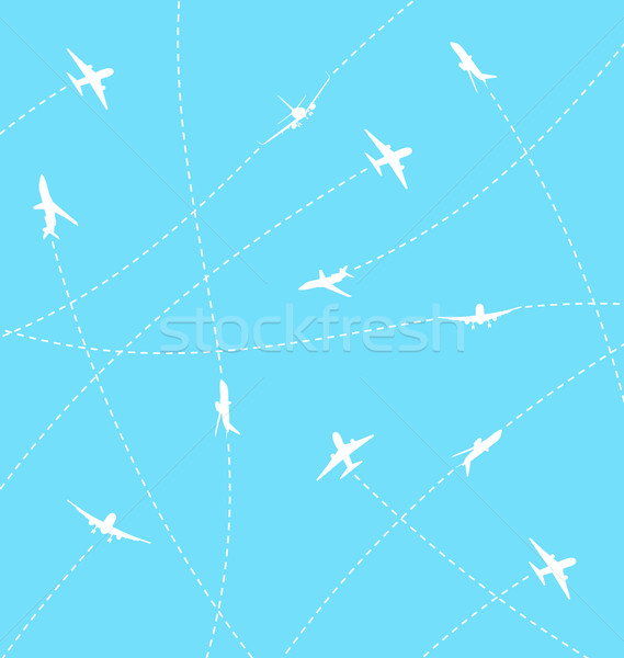 Abstract background with airplane lines Stock photo © smeagorl