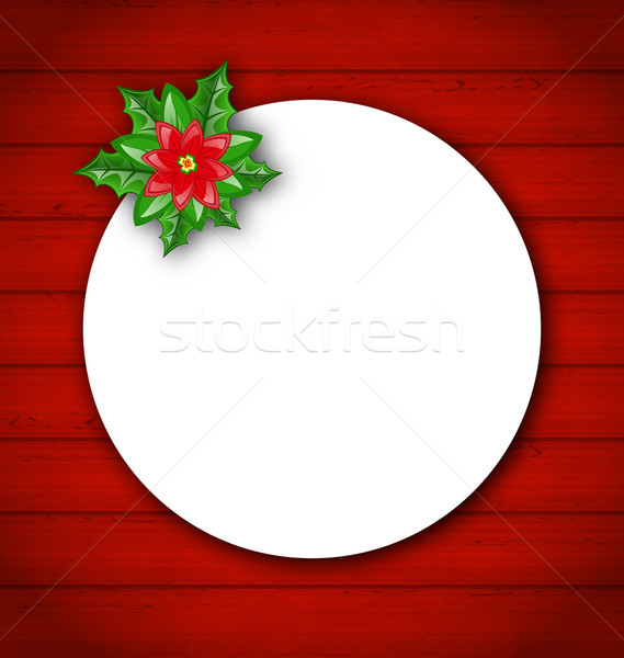 Celebration card with flower poinsettia for Merry Christmas  Stock photo © smeagorl