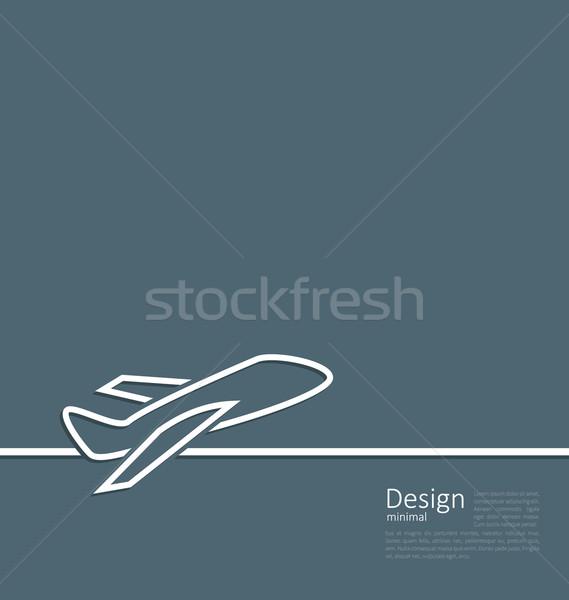 Internetowych szablon logo płaszczyzny minimalny stylu Zdjęcia stock © smeagorl