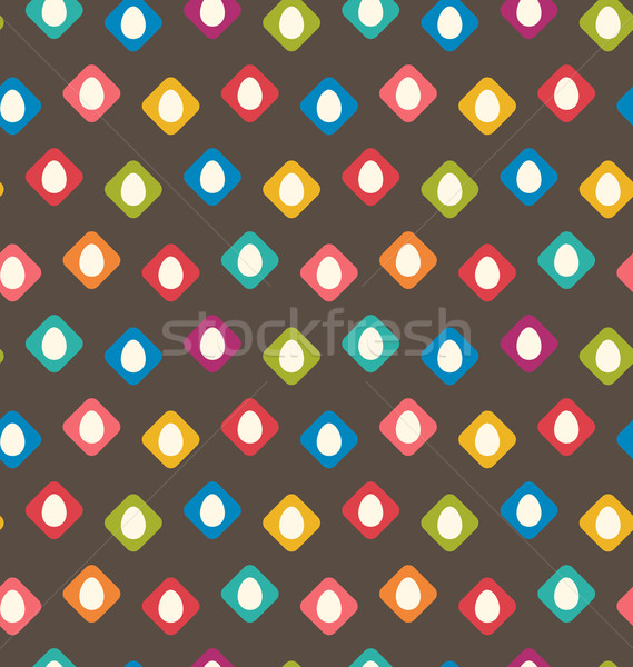 Seamless Texture with Easter Eggs Stock photo © smeagorl