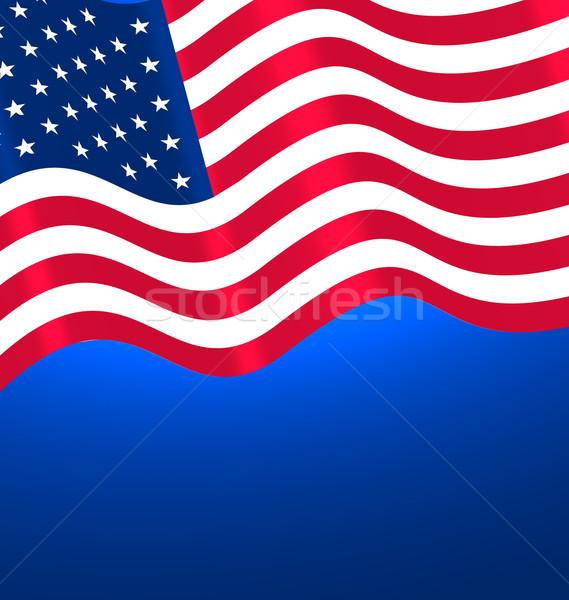 Flags USA Waving  Stock photo © smeagorl