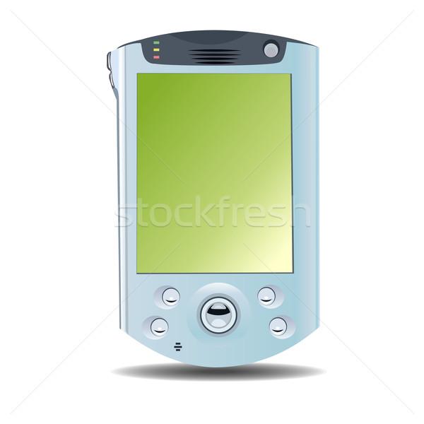 Realistyczny ilustracja pda komputera muzyki telefonu Zdjęcia stock © smeagorl