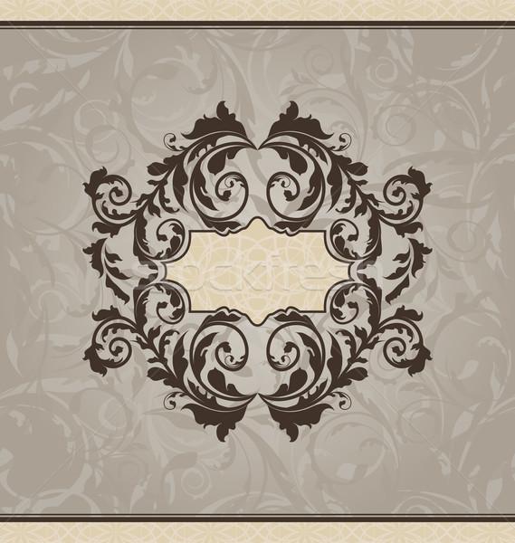 Renacimiento tarjeta invitación ilustración diseno Foto stock © smeagorl