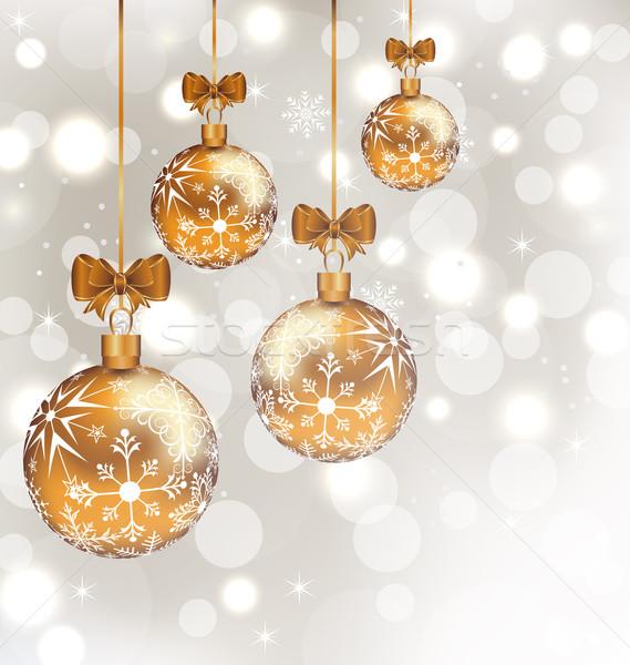 праздник набор Рождества иллюстрация Сток-фото © smeagorl