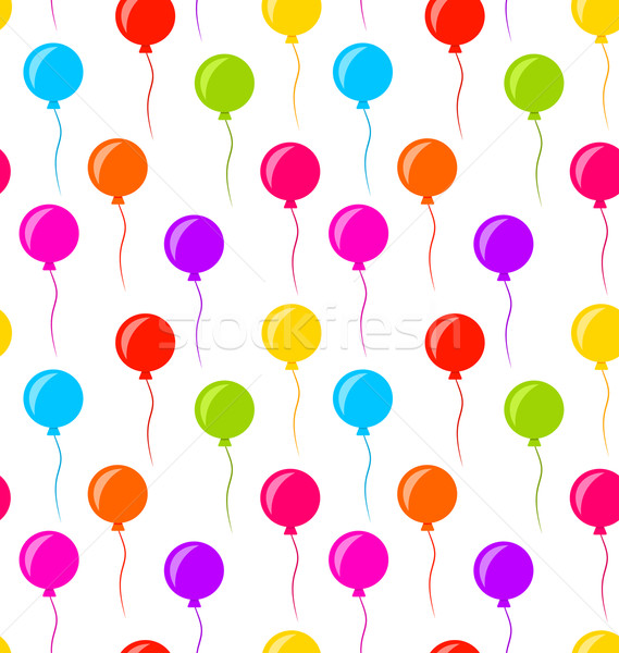 Seamless Texture Multicolored Balloons for Party Stock photo © smeagorl