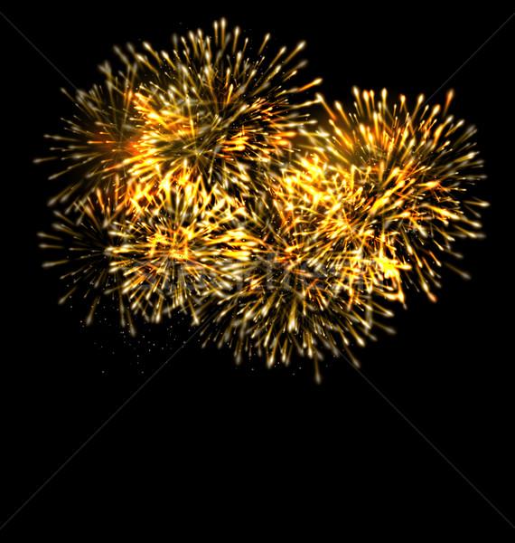 Illuminated Festive Firework, Glowing Holiday Background Stock photo © smeagorl