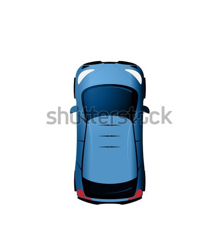 Car view from above, Vehicle Isolated on White Background Stock photo © smeagorl