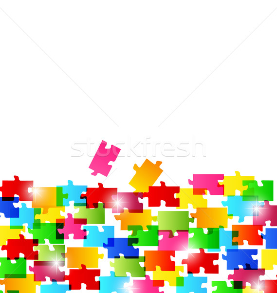 Abstract background made from colorful puzzle pieces Stock photo © smeagorl